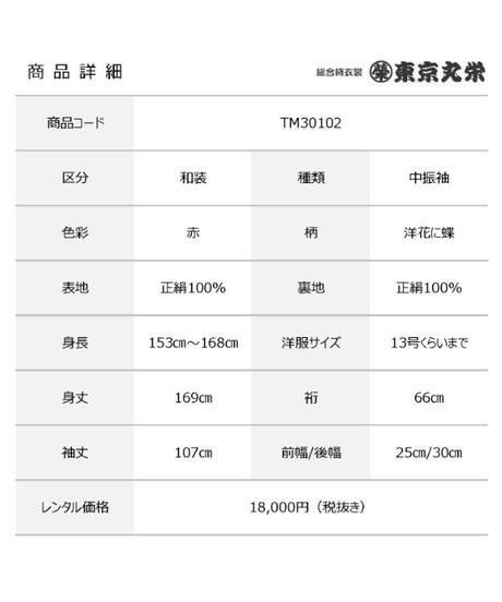 [レンタル] 中振袖 TM30102