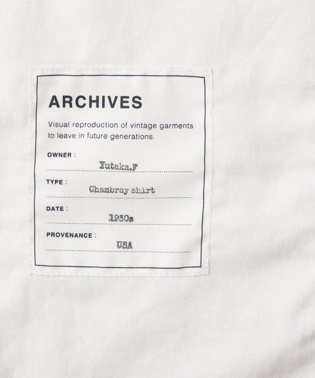 Tronpe L'oeil Printed Shirt (1930s Chambray shirt)