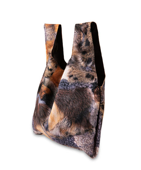 Trompe L'oeil Printed Market Eco Bag(Fur)