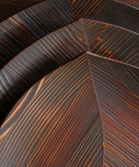 漆の木の葉皿(大サイズ30×29cm)  杉の木クラフト