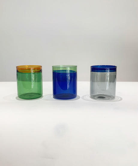 two-tone glass vase