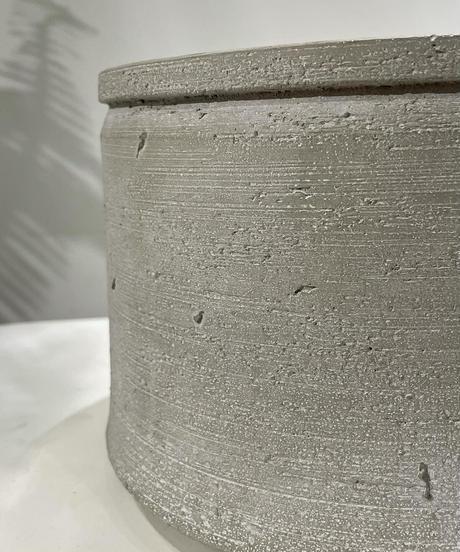 【鉢】cement low pot