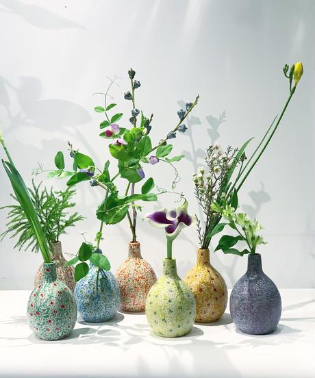 陶器 一輪挿し daisy / glouriosa