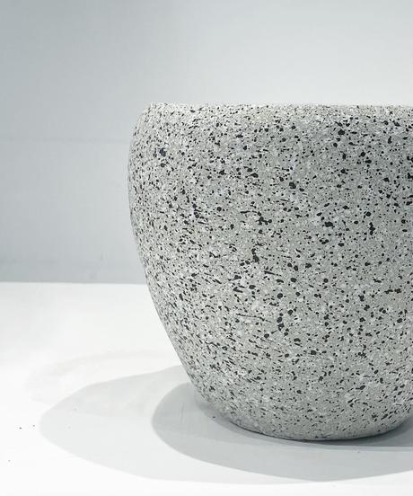 【鉢】STONE SKIN POT  round   gray φ 15.5