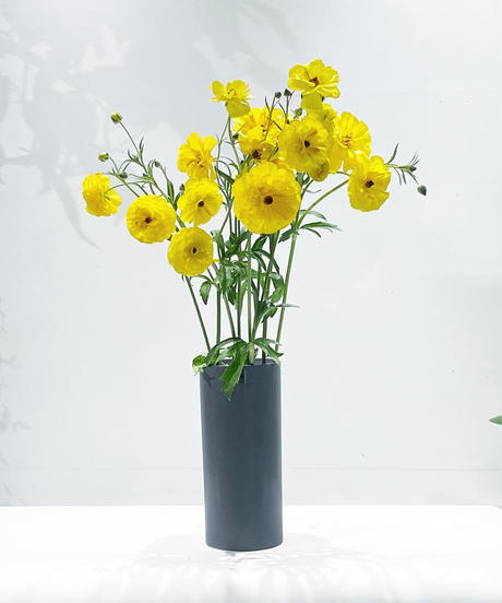 ceramic cylinder flower vase / 3color