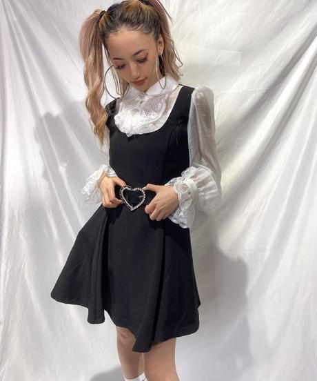 layered blouse ワンピ