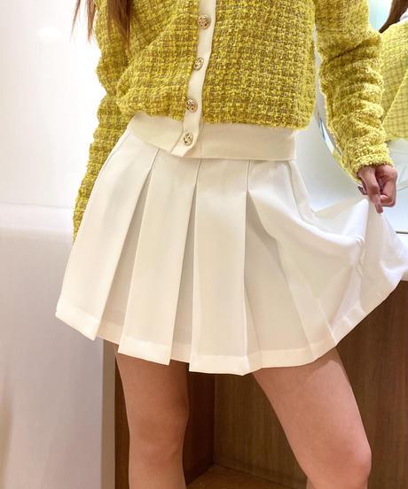 ボックス プリーツスカート