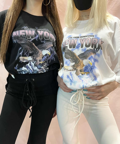 NEW YORK ロックオーバーTシャツ