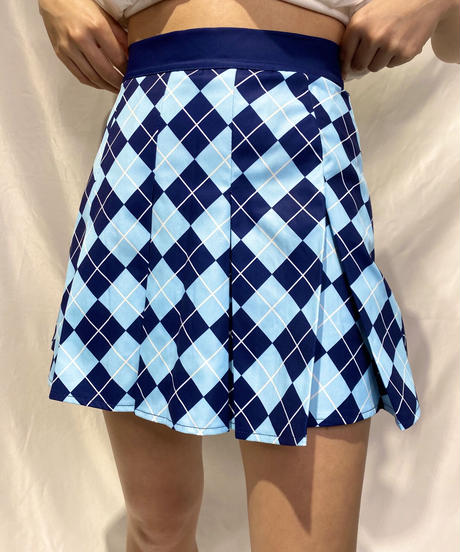 argyle pleats skirt
