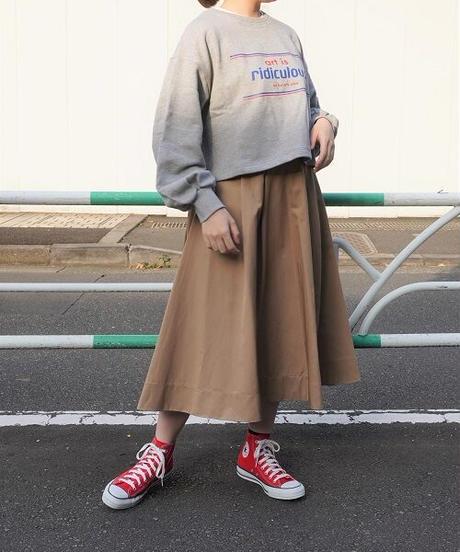 logo twill tuck skirt【2203605】