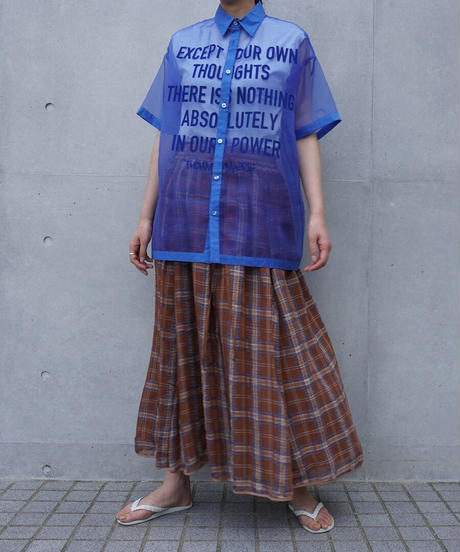 sheer shirt【2212109】