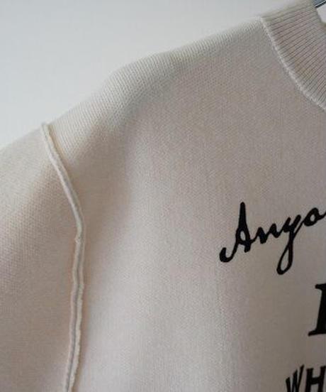 crew neck print pullover knit【2204715】