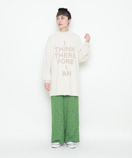 high neck logo knit【2204718】