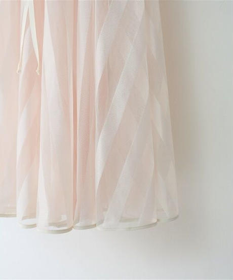 long tulle skirt stripe【2201605】