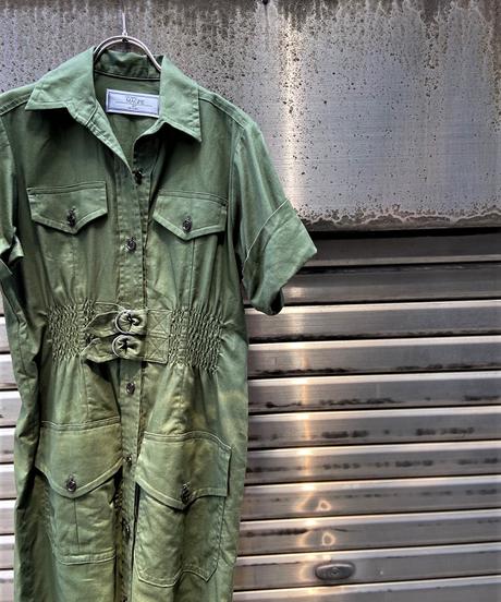 safari shirt one-piece【2202406】