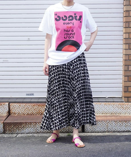 block pleats skirt【2211608】