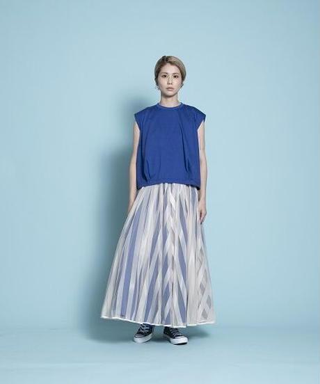 long tulle skirt stripe【2201605】