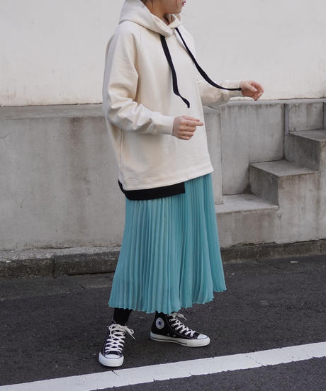 sheer voile pleats skirt【2211605】