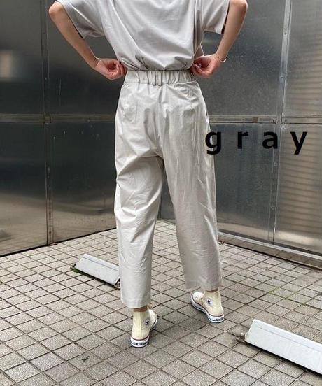 cotton-tsuil tuck pants【2201303】
