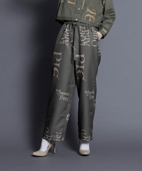 logo pants【2213305】