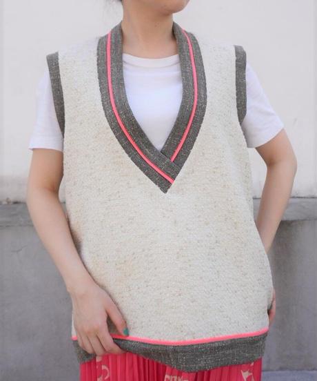 tweed  vest【2213101】