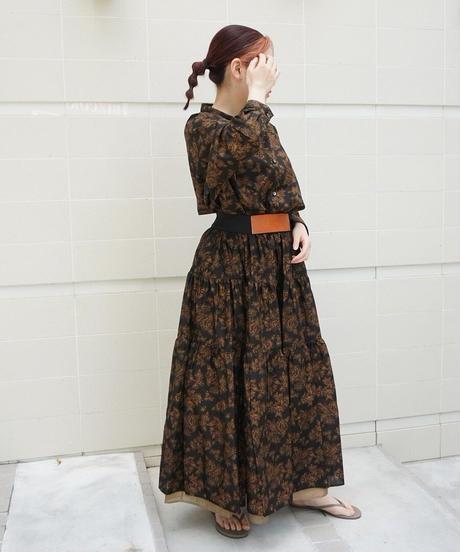 flower print skirt【2212610】