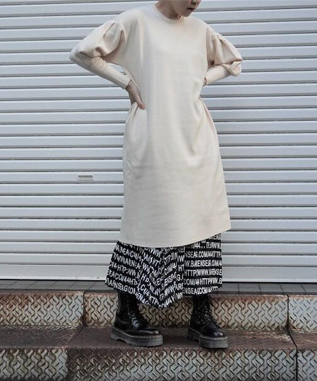 rib knit one-piece【2203702】