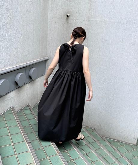 no-sleeve  gather one-piece【2202411】