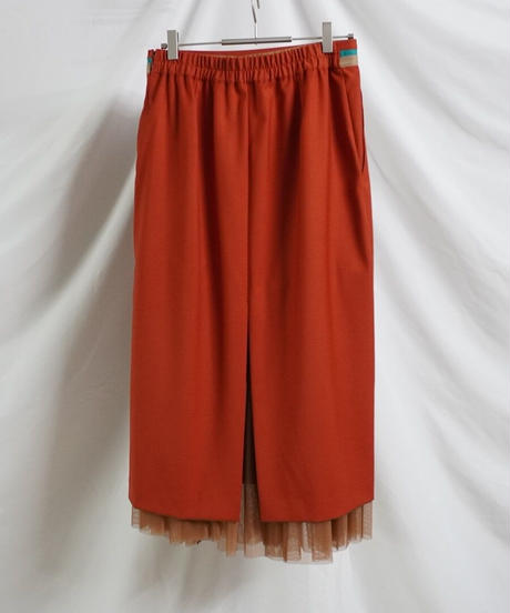 colour belted skirt【2211604】