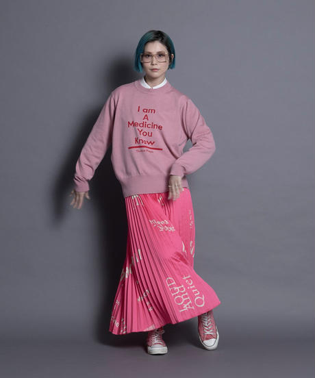 logo pleated skirt 【2213605】