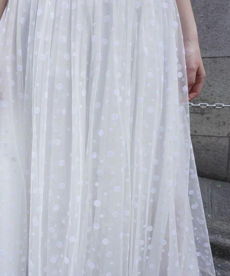 long tulle skirt dots 【2192605】