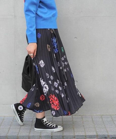 pleats skirt【2201606】