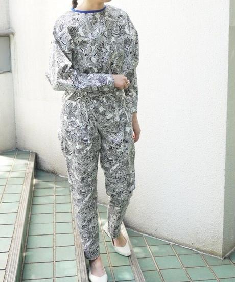 ezntangle print blouse【2213103】