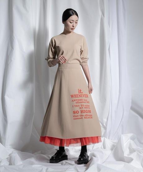 logo knit skirt【2211704】