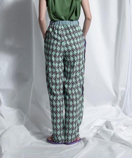 print easy wide pant【2211304】