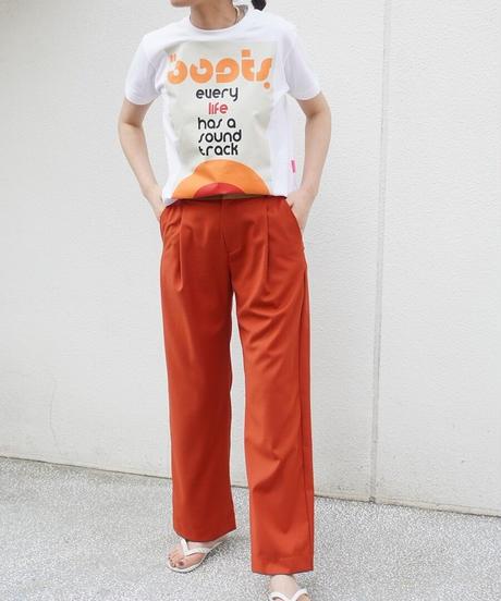 seventies style short short T-shirt【2211850】