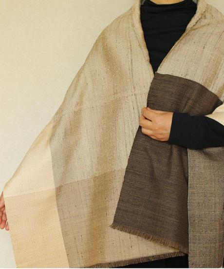 焦茶×白茶×ベージュ綾織大格子 (品番1511-08)