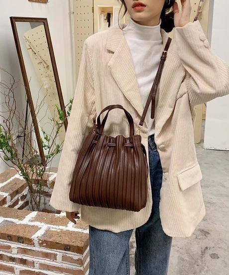 2way Pleats Bag【3-B023】