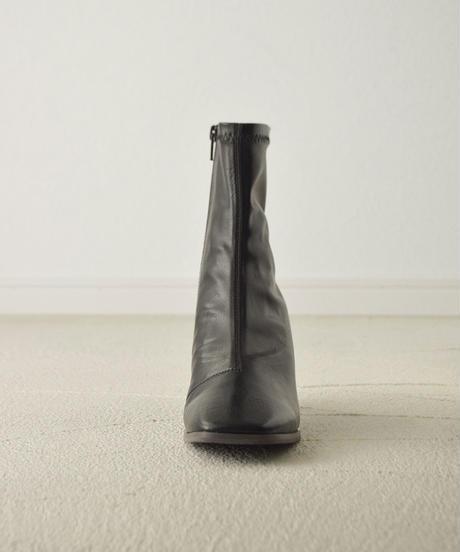 (ブラック) この履きやすさに感動。ウッドヒールストレッチブーツ 7474