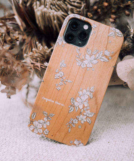 """FLORAL""  Wood iPhone Cover"