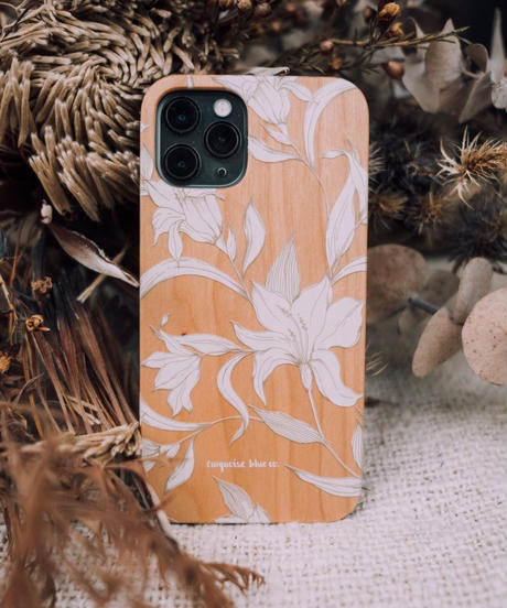 """LILY & THE FOLK""  iPhone wood cover"