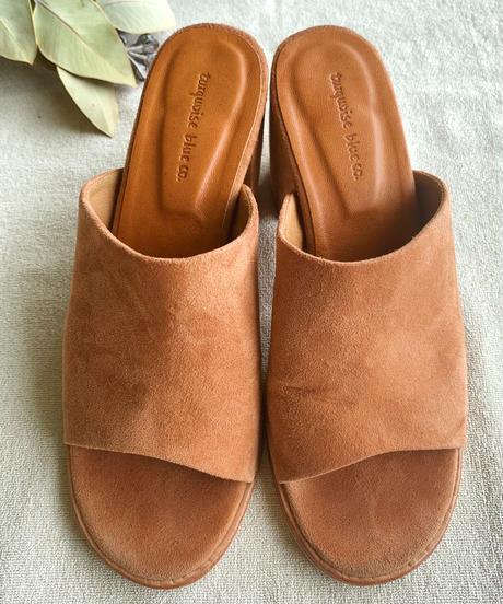 Suede Heel Sandals