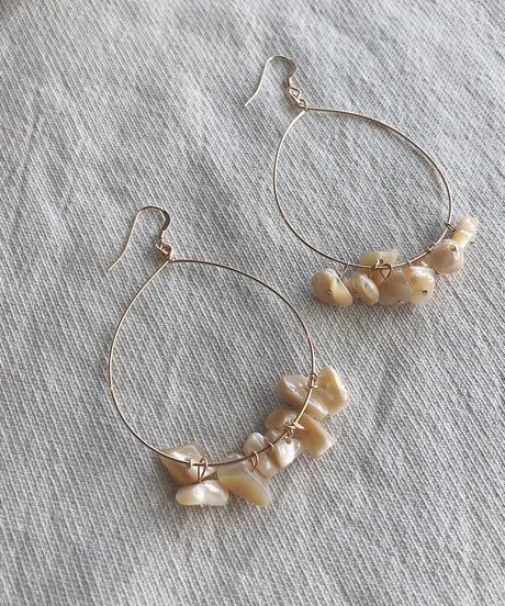 Hoop Shell  Earrings