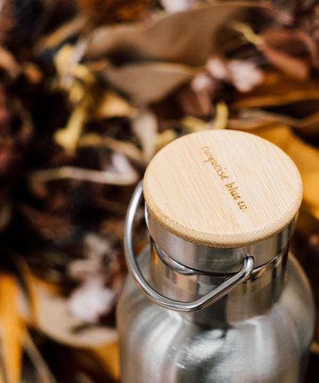Stainless &Bamboo  Cap Eco friendly Bottle 750ml