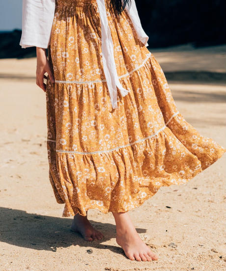 THE FLOWERS IN THE SUN /Maxi Skirt