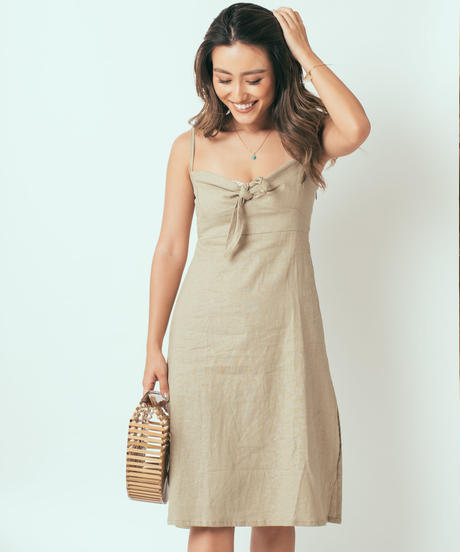 Linen Midi Dress / 5 Colors