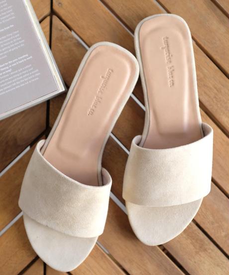 Suede Flats Sandals/3color