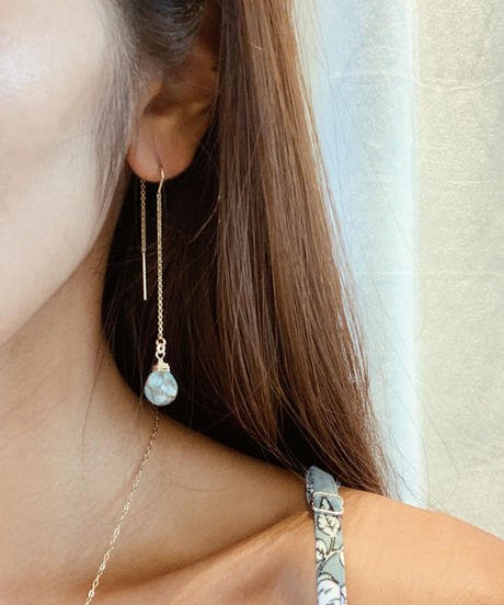 Wave Kalusaito Earrings  / blue