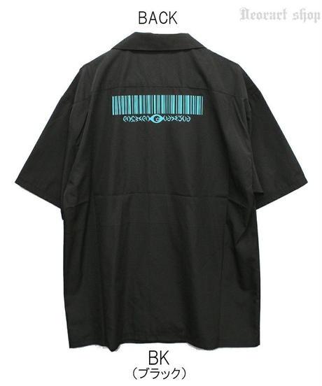 《Deorart》切替 バイカラー ロング丈 開襟シャツ 五分袖 [icon] DRT2562