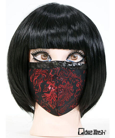 《QutieFrash》ファッションマスク~メタルジャガード~ 7829-AC